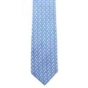 VINEYARD VINES MEN'S BLUE LACROSSE PRINT SILK TIE